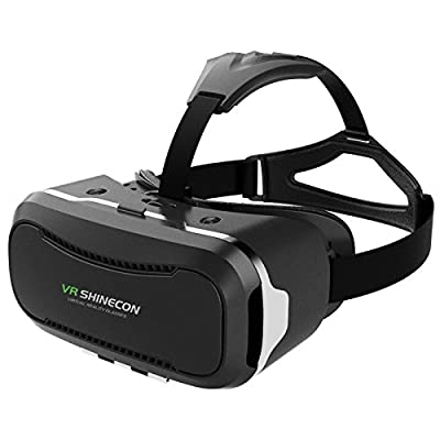 VersionTech 2nd 360° Viewing Immersive Virtual Reality Headset VR Goggle Box 3D Glasses for 3D Movies Video Games, Compatible with iPhone 7 Plus/ 6s Plus Samsung Galaxy Series and Other Smartphone from VersionTech
