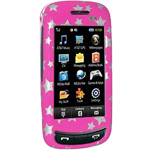 (Amzer Stars Snap-On Crystal Hard Case for Samsung Impression A877 -)