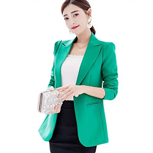 af2756c1b1ed Chaquetas Trabajo Blazer Dama Slim 2 Mujer Verde Kaiyei Otoño Primavera Y Escudo  Oficina Traje Blazers Office qa7YBXw