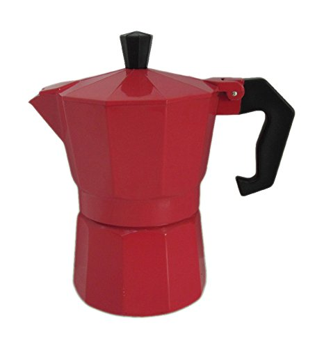 Kinghoff Rot Espressokocher 3 Tassen Edel Höff