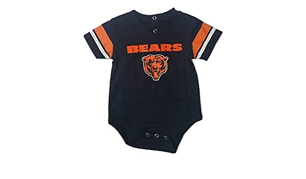 6cf3bec11869e Amazon.com: Outerstuff Chicago Bears Navy Baby/Infant Onesie Jersey:  Clothing