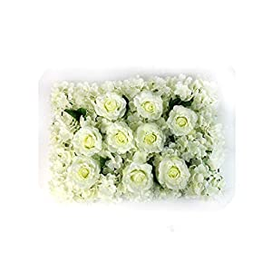 60cmx40cm Wedding Flower Wall Real Touch Artificial Rose Hydrangea Flower Photography Props Event Party Wedding Stag 34