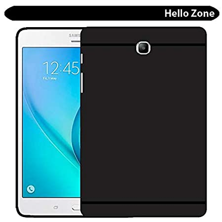 Hello Zone Matte Finish Back Cover for Samsung SM T355 Galaxy Tab A 8.0  Black  Mobile Phone Cases   Covers
