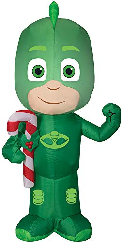 Airblown Gekko w/Candy Cane Funny Theme Party Inflatable Christmas Decoration -