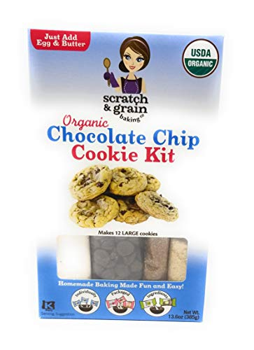 SCRATCH AND GRAIN Chocolate Chip cookie Kit, 13.6 OZ (Cookie Kit Baking)