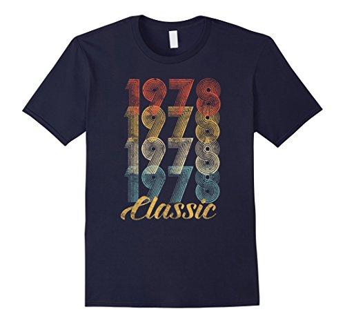 Mens CuteComfy 40th Birthday Gift Vintage 1978 T-Shirt Men Women Large Navy