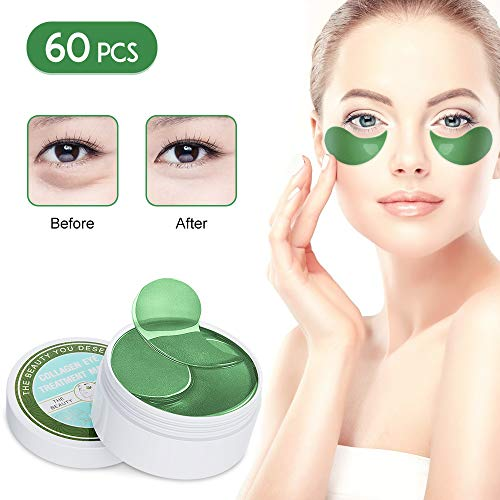 41JsYlbUz2L - Under Eye Patches Teamyo Collagen Eye Masks,Reduce Dark Circles & Puffiness Eliminate Eye Bags, Natural Eye Treatment Masks with Anti Wrinkles & Anti Aging, Moisturizer Deeply, 30 Pairs-Green