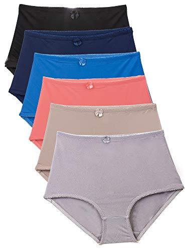Barbra's 6 Pack Women's Plus Size High-Waist Tummy Control Matt Girdle Panties (XL)