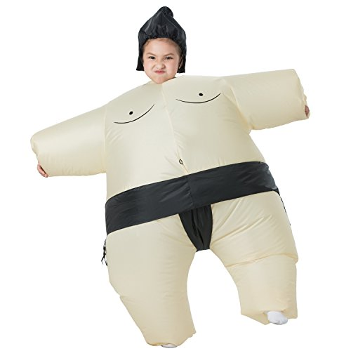 YEAHBEER Inflatable Costumes | T-REX Costume | Halloween Cosplay Costume| Blow Up Costume - Suit for Adult/Kid  (E-Sumo Kid)