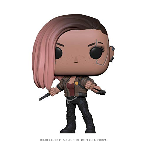 From Cyberpunk 2077, V-Female, as a stylized POP vinyl from Funko! Figure stands 3 3/4 inches and comes in a window display box. Check out the other Cyberpunk 2077 figures from Funko! Collect them all!