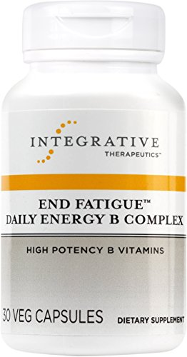 Integrative Therapeutics - End Fatigue Daily Energy B Complex - High Potency B Vitamins - 30 Capsules