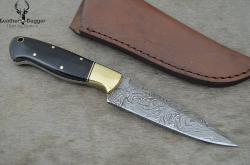 Huge Sale By Leather-n-dagger | Professional High Quality Custom Handmade Damascus Steel Hunting Knife (100% Satisfaction Guaranteed) Great Gift Ld159