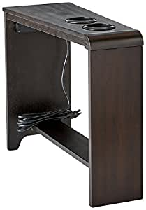 ashley furniture signature design carlyle chairside end table rectangular with 2. Black Bedroom Furniture Sets. Home Design Ideas