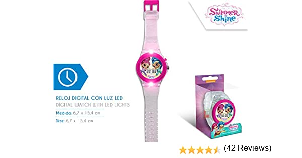 Disney – Reloj Digital Shimmer and Shine con luz led - SH17024: Amazon.es: Juguetes y juegos