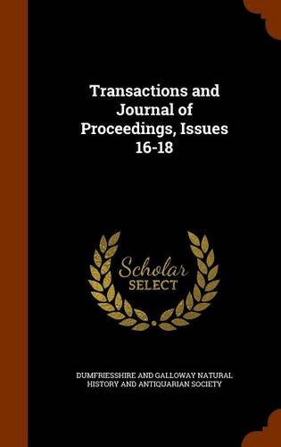 Transactions and Journal of Proceedings, Issues 16-18 pdf epub
