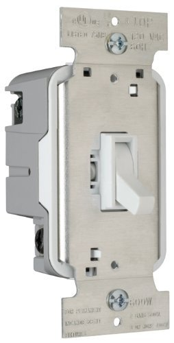 Pass & Seymour T603WV Toggle Dimmer 600-watt Three Way Easy Install, White by Pass & Seymour/Legrand (600w Dimmer Toggle)