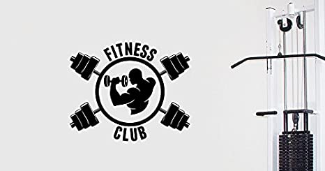 Gym wall decal fitness logo sticker sports vinyl art decorations
