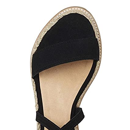 5e66840faea Amazon.com: Finly Summer White Wedge Espadrilles Women Sandals Open ...