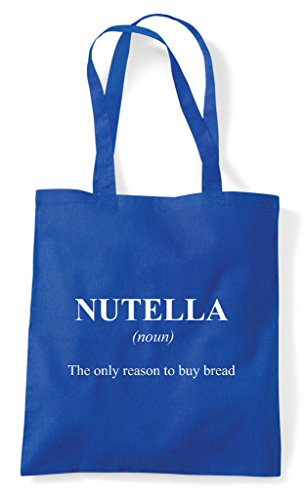 Bag In Shopper The Definition Royal Blue Funny Alternative Tote Dictionary Nutella Not 86fTq