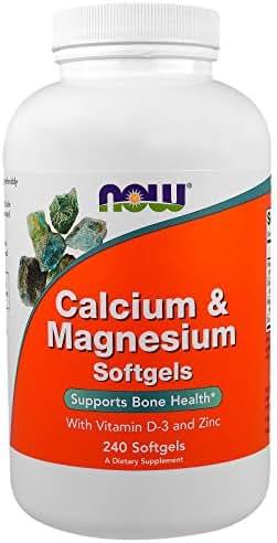 Calcium Magnesium with Vitamin D3 and Zinc Bone Health 240 Softgels
