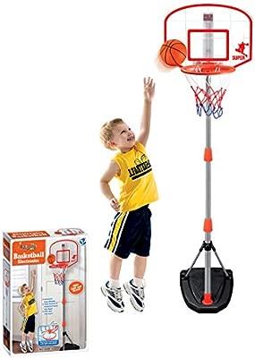 Foxom Ajustable Canasta Aro de Baloncesto Soporte con Dispositivo ...