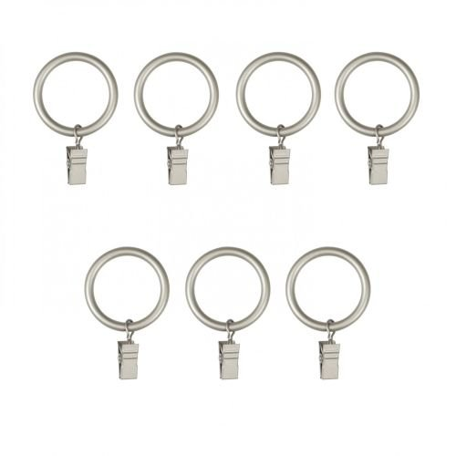 Umbra Clip X-Large Drapery Ring, Set of 7, Nickel (Umbra Rings Clip)