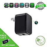 Spy camera USB Phone charger WEMLB, Invisible 1080p HD hidden camera, WIFI Wireless wall plug USB Charger [Motion Detection, AC Adapter, Remote App Control] Nanny, Home, Kids, Baby, Pet monitoring cam
