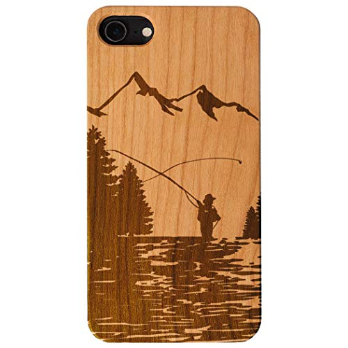 Case Fly Fishing (Fly Fishing Engraved Wood iPhone 6/7/8 Case | Fishing Adventure)