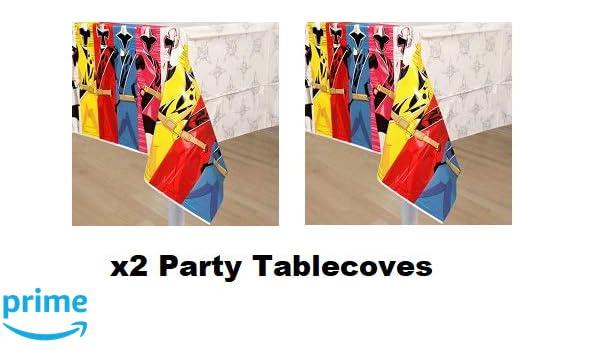 Amazon.com: Quali Power Ragers Ninja Steel Party Tablecloth ...