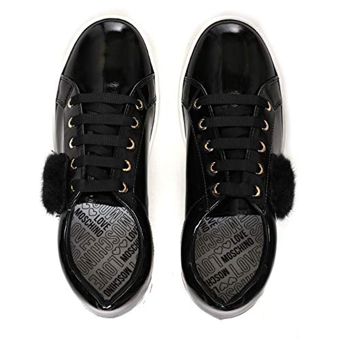 Love Moschino Faux Fur Heart Sneaker Donna Nero