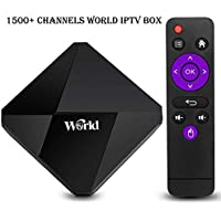 2018 International IPTV Box Receiver Over 1500 Brazil Arabic Europe Global Live Channels with Lifetime Subscription