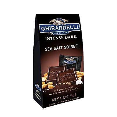 Ghirardelli Chocolate Intense Dark Squares, Sea Salt Soiree, 4.12 oz., 4 Count by Ghirardelli