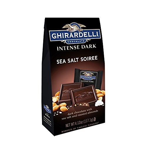 Ghirardelli Chocolate Intense Dark Squares, Sea Salt Soiree, 4.12 oz., 4 Count -