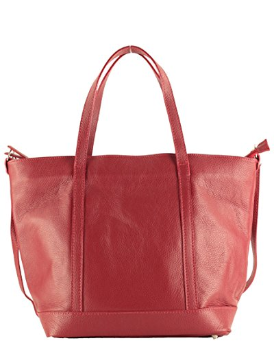 Histoiredaccessoires Cuero Sa147523rl Bolso Hombro Mujer Rojo lucia De Al Oscuro Llevar Para rqrw6En8f