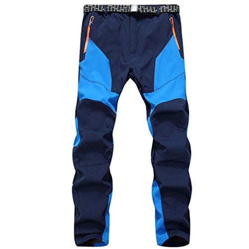 Clearance Sale! Men Pants WEUIE Waterproof Windproof Outdoor Sports Warm Winter Thick Pants Trousers (34-41 Waist, Blue) by WEUIE Men's Clothing (Image #3)