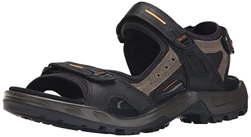 ECCO Women's Yucatan outdoor offroad hiking sandal, Black/Mole/Black, 6-6.5 M US