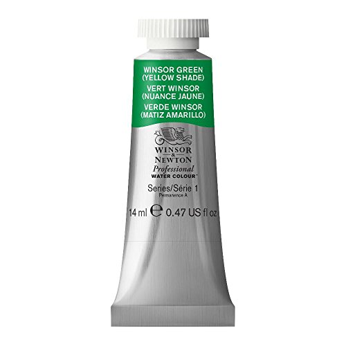 Winsor & Newton Professional Water Colour Paint, 14ml tube, Winsor Green (Yellow Shade)