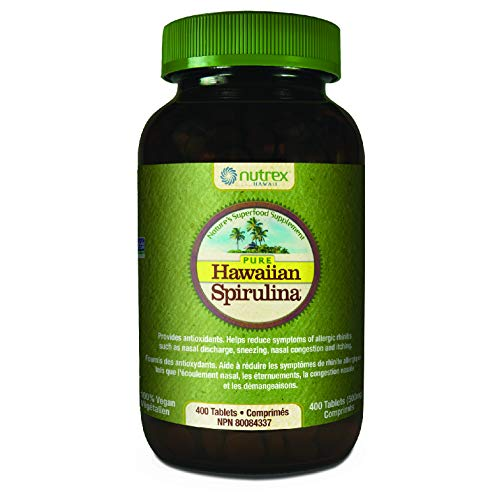 Pure Hawaiian Spirulina - 500mg Tablets 400 Count - Boosts Energy and Supports Immunity - Vegan, Non GMO - Natural Superfood Grown in Hawaii