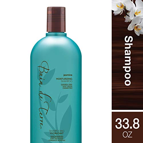 Bain de Terre Jasmine Moisturizing Shampoo, with Argan and Monoi Oil, Paraben-Free, 33.8-Ounce