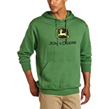 John Deere Men's Trademark Logo Core Hood Pullover Fleece