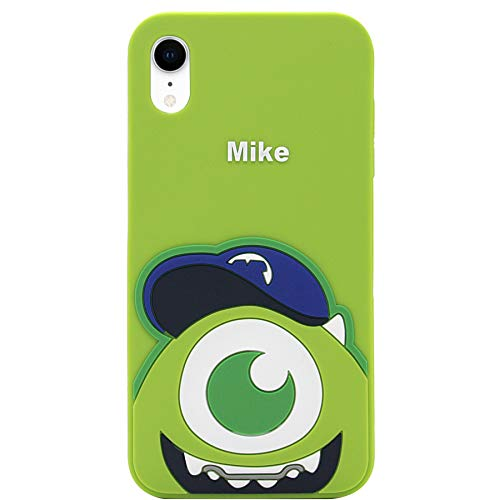 iPhone XR Case, MC Fashion Cute Cartoon Monsters Case for Teens Girls Boys Women, Protective Shockproof Soft Silicone Rubber Case for Apple iPhone XR (2018) 6.1-Inch (Mike)