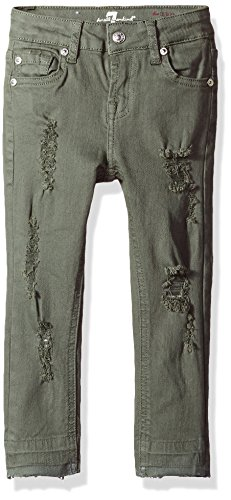 7 For All Mankind Big Girls' Skinny Fit Jean (More Styles Available), G3229-Green, 14 by 7 For All Mankind