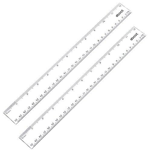 12 Clear Plastic Ruler - 8
