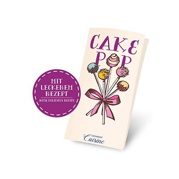 Lumaland Cuisine Teglia/Stampo da Forno in silicone da 20 Cake-pops o stick cake, inclusi 40 bastoncini ca. 22,5 x 18,5… 6 spesavip