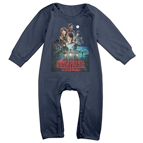 Infant Bodysuit Outfits Stranger Things Movie Logo Cute Long Sleeve Baby Onesie (Cute Movie Outfits)
