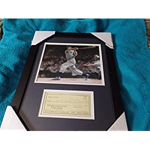 14X18 Framed & Double Matted Joe Dimaggio Autographed Signed Memorabilia 1992 Check JSA Certified