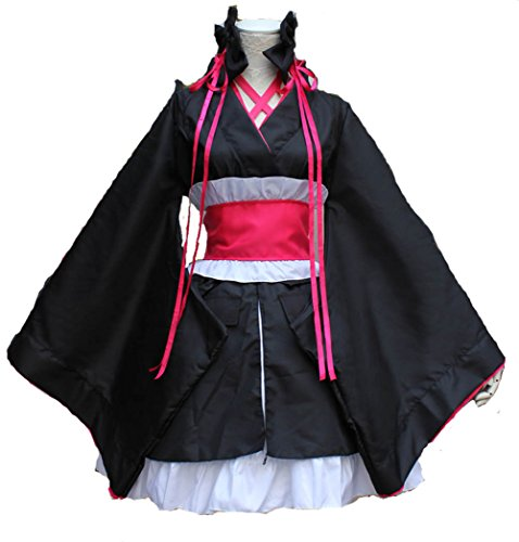 Cos store Black Japanese Kimono Lolita Dress Halloween