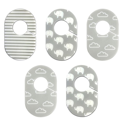 Grey and White Nursery Closet Rod Organizers by Little Haven by Little Haven