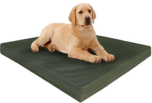 Dogbed4less Heavy Duty Orthopedic Gel Memory Foam Pet Bed with Waterproof Internal Case 2 Washable Canvas External Cover for Large Dog