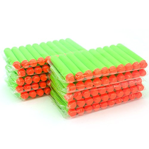(TOPCHANCES 100pcs 7.2cm Soft Mega Refill Bullet Darts Foam Darts for Nerf N-Strike Elite Series (Green))